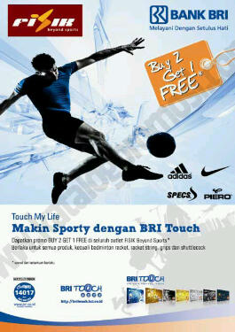 Makin Sporty dengan BRI Touch